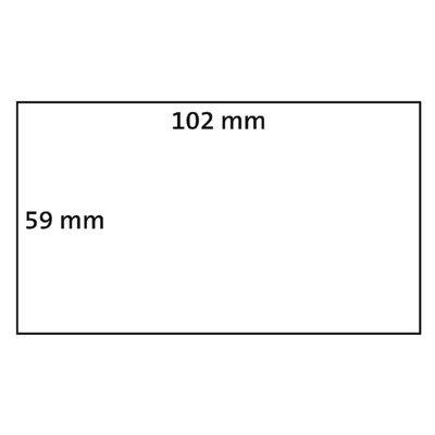 Dymo-compatible Dymo S0947420 compatible labels, 102mm x 59mm, 575 etiketten, blanco, permanent