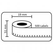 Dymo-compatible Dymo 11355 compatible labels, 51 x 19mm, 500 etiketten, permanent