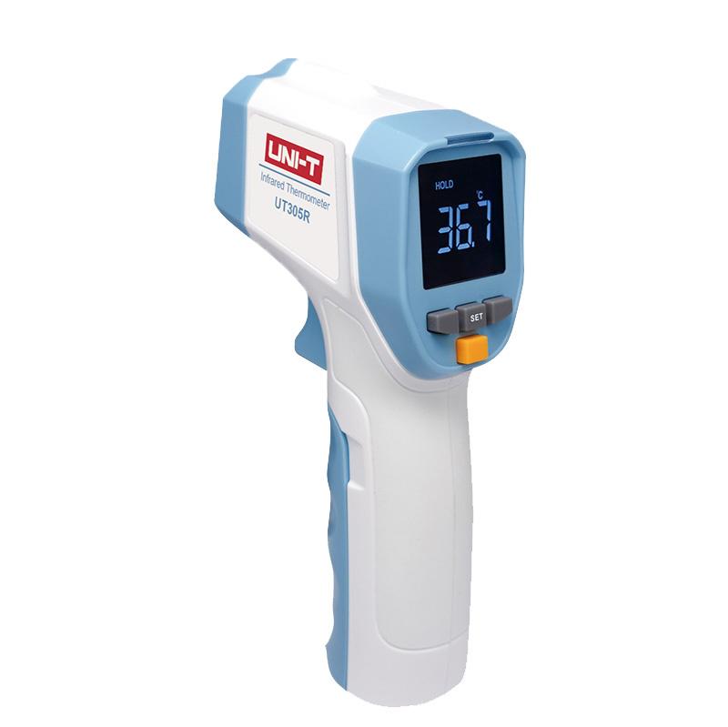 Draagbare Infrarood Thermometer UT305R, ideaal voor het snel detecteren van verhoogde lichaamstemperatuur.