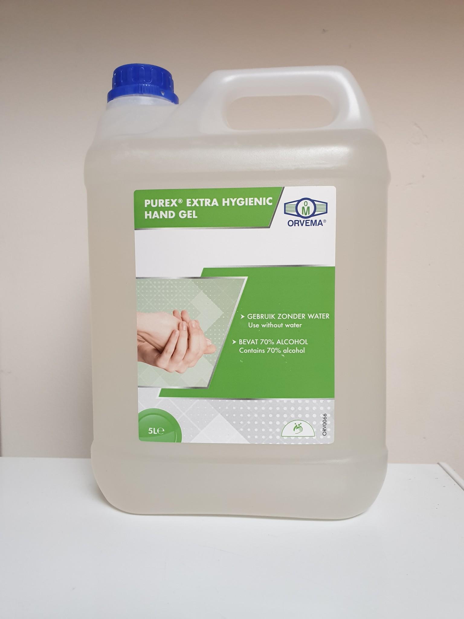 Desinfecterende handgel extra hygiënisch 5 liter