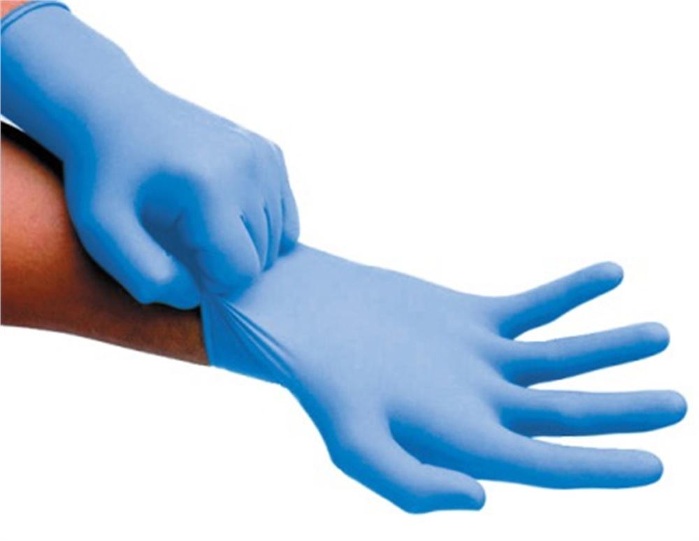 Hygoclean Nitril handschoen blauw ongepoederd maat L - Hoge treksterkte - 100% allergie vrij 100 stuks per doos 10 doos per omdoos