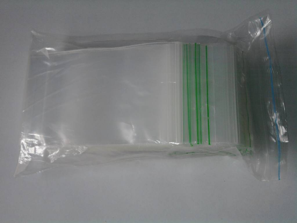 LDPE Gripzakjes 55 mm x 180 mm transparant, 1000 st/ds