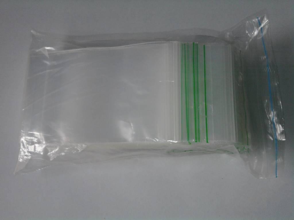LDPE Gripzakjes 80 mm x 180 mm transparant, 1000 st/ds