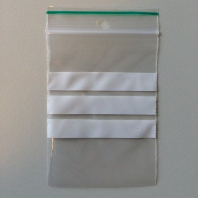 LDPE Gripzakjes 350 mm x 450 mm met schrijfstroken transparant, 1000st/ds