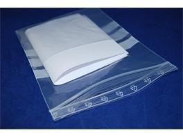 KANGOEROE GRIPZAKJES met  buidel LDPE 150 mm x 200 mm + 120 mm transparant, 1000 st/ds