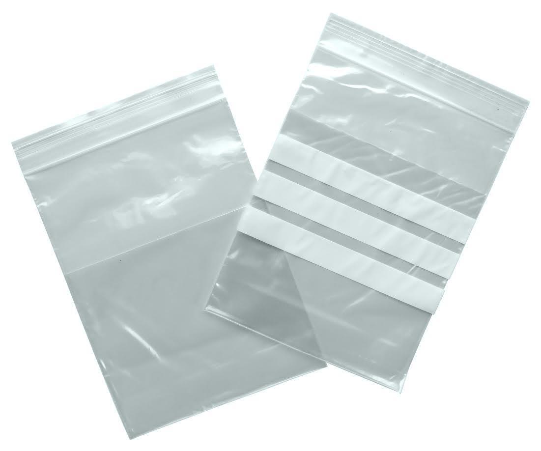 KANGOEROE GRIPZAKJES met  buidel LDPE 150 mm x 200 mm + 120 mm met schrijfvlak, 1000 st/ds