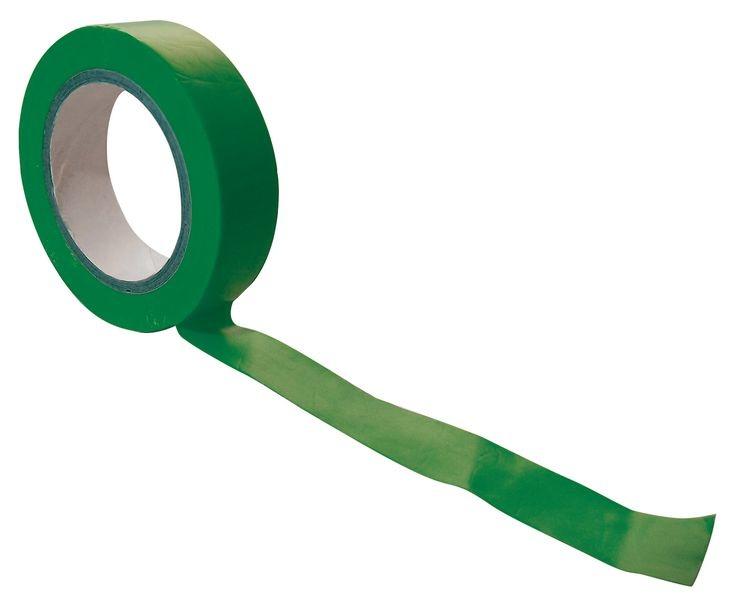 Groene isolerende tape 15 mm en 10 meter per rol voor elektriciteitswerken,  10 rol per pak