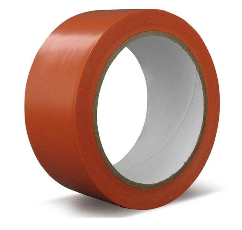 Oranje isolerende tape 50 mm en 33 meter per rol voor elektriciteitswerken,  36 rol per doos