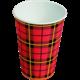 Koffiebeker Schotse ruit Scotty 180ml 2500 bekers per doos