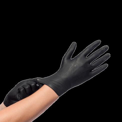 Hygoclean Nitril handschoen zwart ongepoederd maat XL - Hoge treksterkte - 100% allergie vrij 100 stuks per doos 10 doos per omdoos