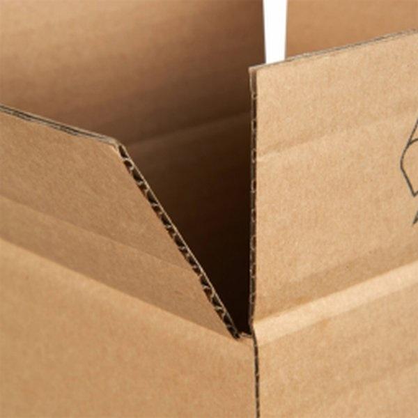 Vierkante verzendkoker 120 x 120 x 1600 mm bruin, 20 stuks per pak