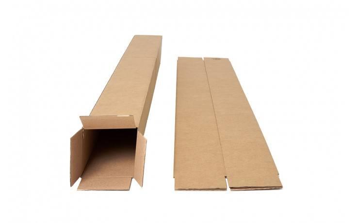 Vierkante verzendkoker 120 x 120 x 430 mm bruin, 20 stuks per pak