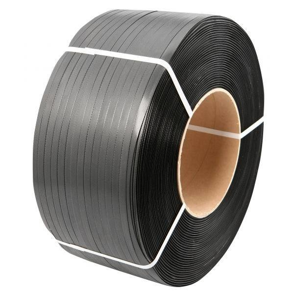 PP Omsnoeringsband B 16/ 055 mm x L 2000 mtr Kern 200 mm zwart strappingband, 2 rol /ds