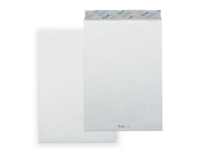 Tyvek TYVEK Ultra Lichte Akte Envelop B5 176x250 mm 55 G/m zelfklevend 100 st per doos