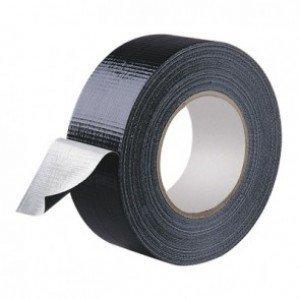Duct tape 50 mm x 50 mtr Zwart - Professioneel, 18 rol/ per doos