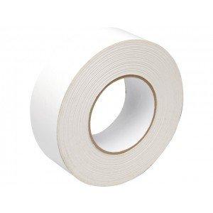 Duct tape 50 mm x 50 mtr Wit - Professioneel, 18 rol/ per doos
