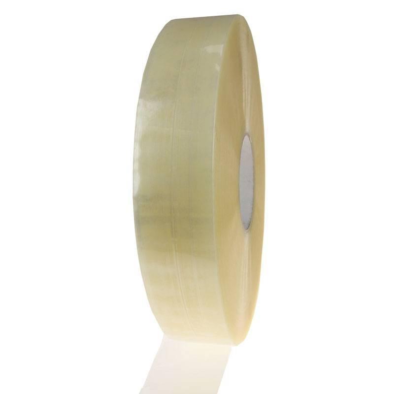 Machine tape PP hotmelt 990 mtr x 75 mm transparant, 4 rol/per doos