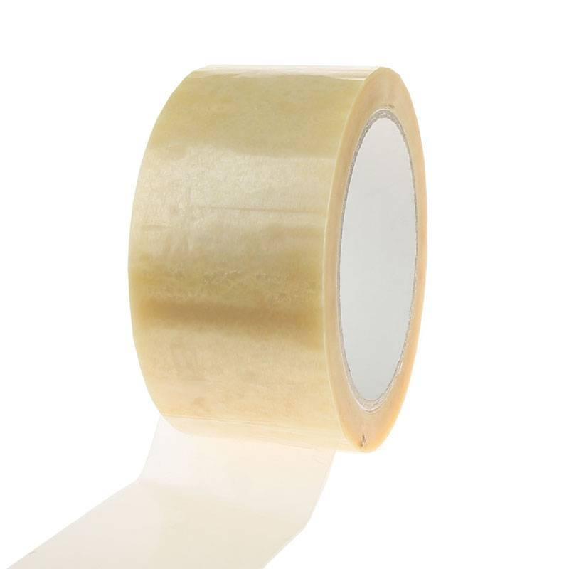 Plakband PVC solvent 66 mtr x 48 mm transparant, 36 rol/per doos