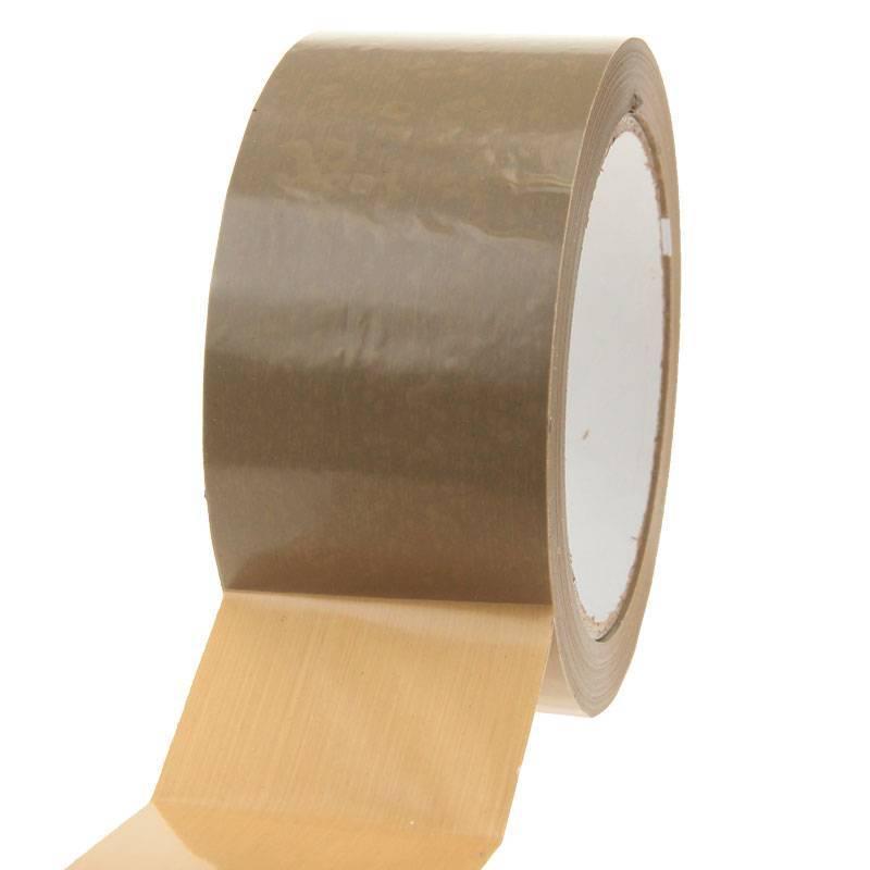 Plakband PVC solvent 66 mtr x 48 mm bruin, 36 rol/per doos