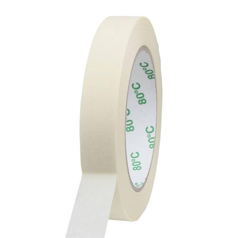 Masking tape Pro 80°C 19 mm x 50 mtr, 48 rol/per doos