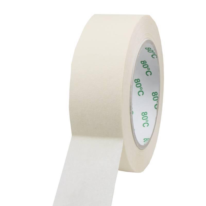 Masking tape Pro 80°C 38 mm x 50 mtr, 48 rol/per doos