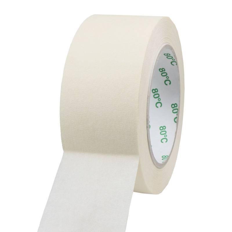 Masking tape Pro 80°C 50 mm x 50 mtr, 24 rol/per doos