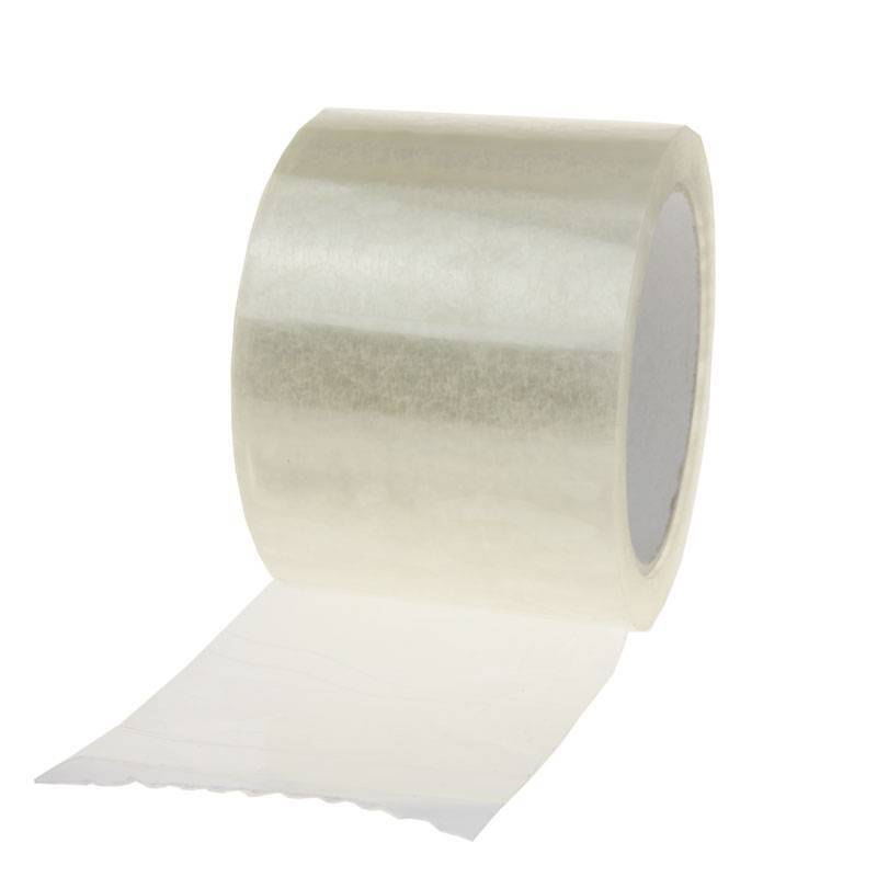 Plakband PP acryl Low Noise 66 mtr x 75 mm transparant, 28 micron, 24 rol/ds