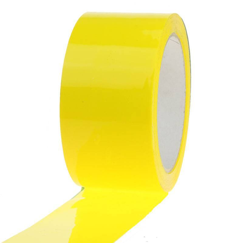 PP Acryl Low Noise tape 66 mtr x 50 mm geel, 28 micron, 36 rol/ds