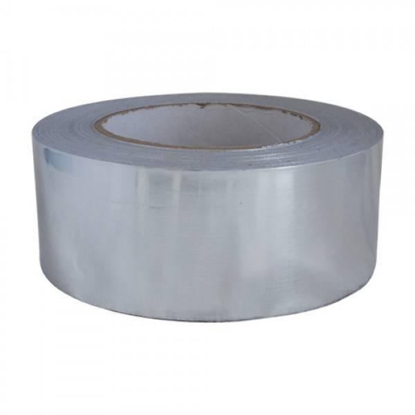 Aluminium tape zilver 50mm x 50 mtr. 24 rol/ per doos