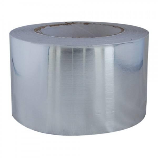 Aluminium tape zilver 75mm x 50 mtr. 16 rol/ per doos