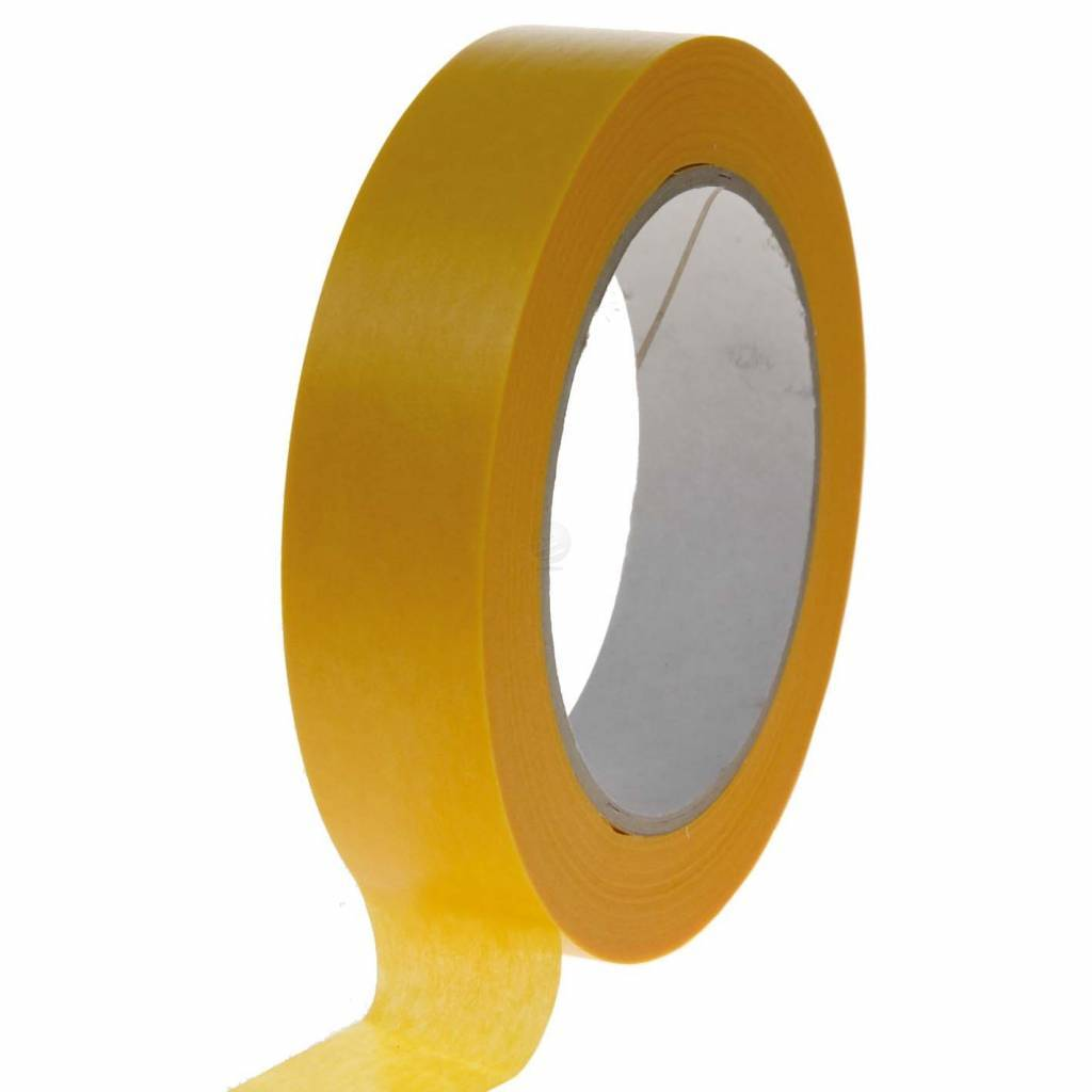 Masking tape Gold ricepaper 19 mm x 50 mtr, 48 rol/per doos
