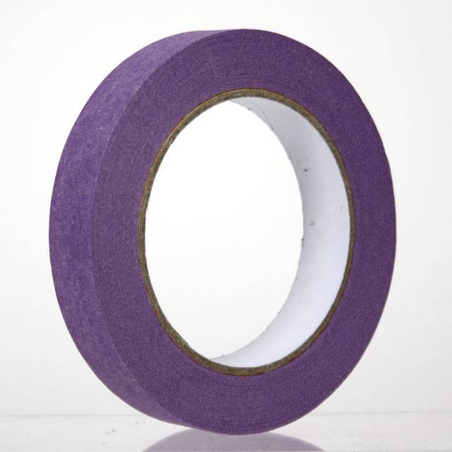 Masking tape Paars 50 mm x 50 mtr Low-tack, 24 rol/per doos