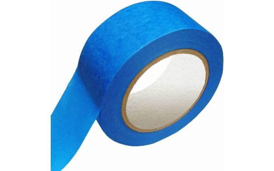 Masking tape Blauw UV 50 mm x 50 mtr, 24 rol/per doos