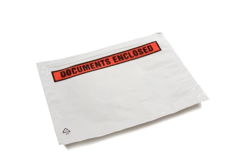 Paklijst enveloppen CoEx type C5 geschikt voor een A5 (1/2 A4), Binnenmaat in mm 225 x 165 Bedrukking Documents enclosed 1 doos a 1000 stuks