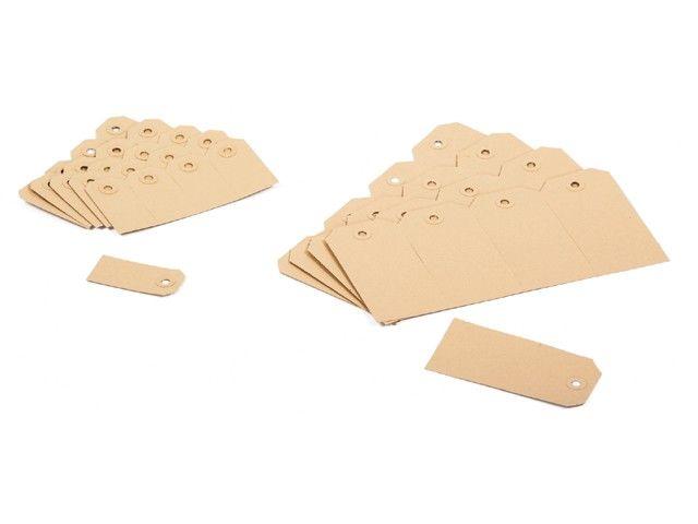 Buldog Kartonnen Labels nr. 01 - 35 x 70 mm bruin 1000 st/ds