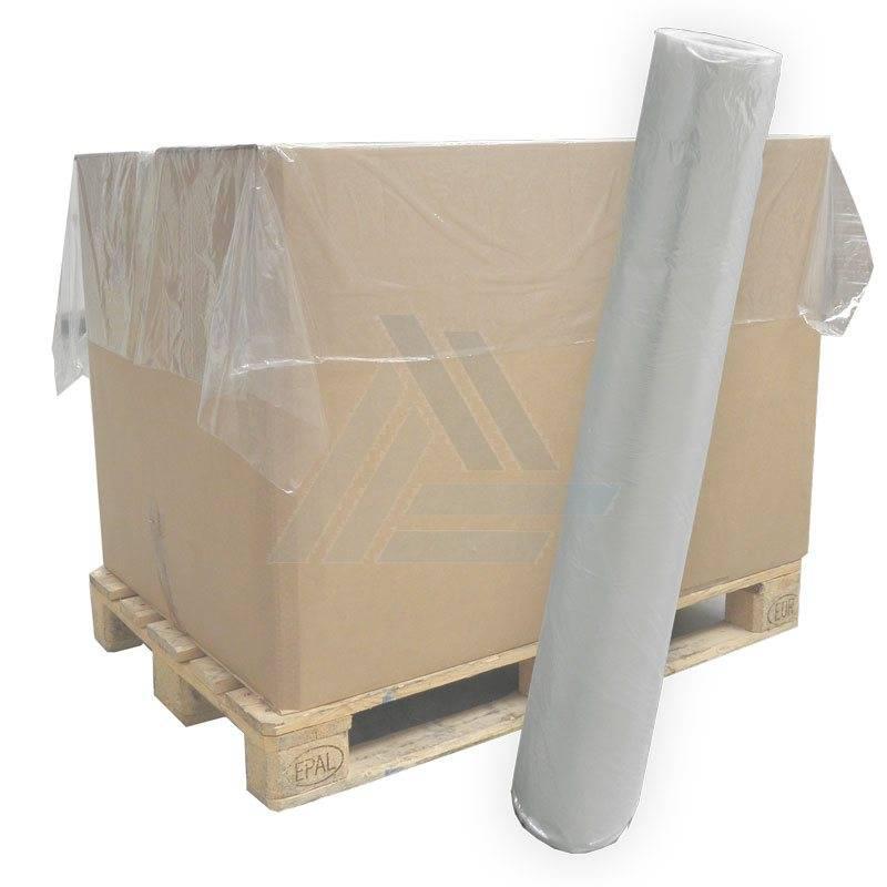 LDPE vellen 1400 mm x 1600 mm 40mu transparant,  200 st/rol