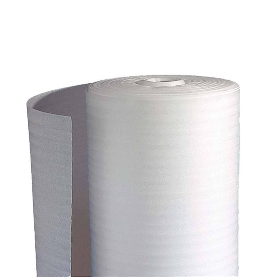 Schuimfolie rol 60 cm x 250 mtr wit 2mm, 2 rol/pak (levertijd ca. 1 week)
