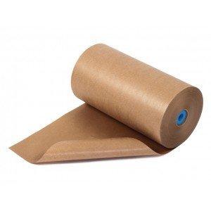Bruin natronkraft pakpapier 120 cm breed x 285 meter per rol 70gr/m2