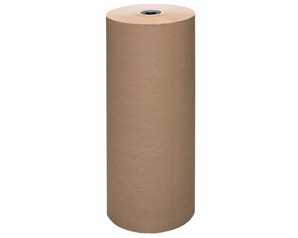 Bruin natronkraft pakpapier 100 cm breed x 285 meter per rol 70gr/m2