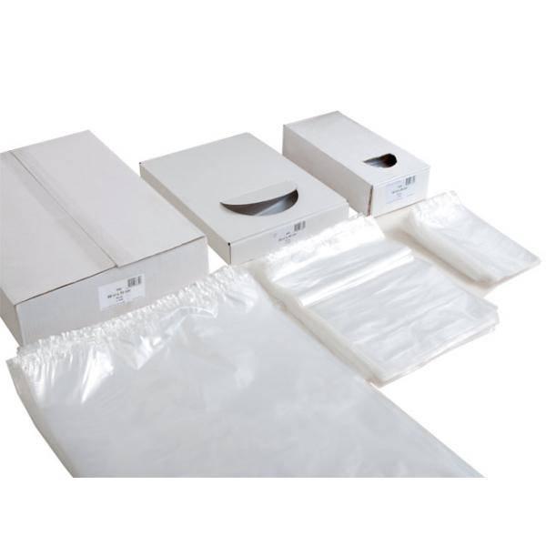 LDPE plastic zakken vlak 10 cm x 20 cm transparant 25mu, 5000st/ds