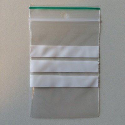 LDPE Gripzakjes 160 mm x 230 mm met schrijfstroken transparant, 1000 st/ds