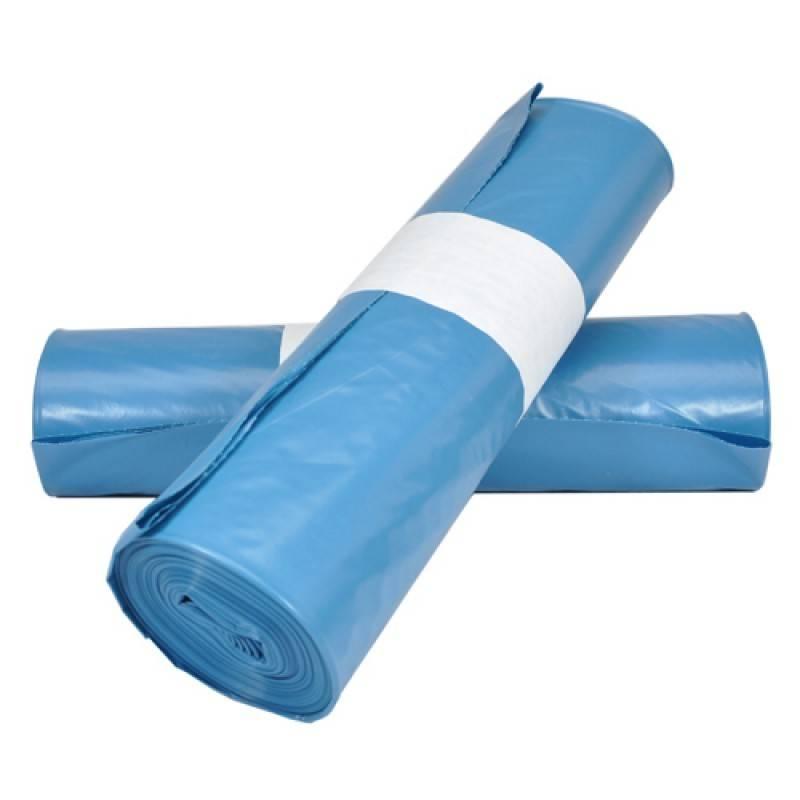 LDPE plastic afvalzakken vlak 70 cm x 100 cm blauw type 70 200 st/ds