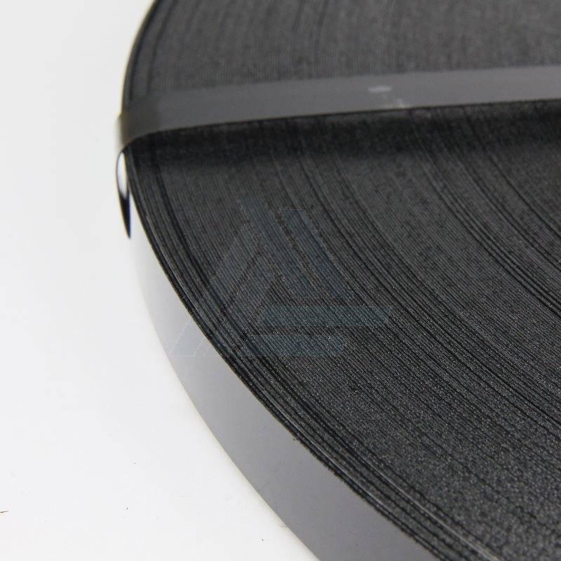 Staalband Zwart gelakt B 12 mm x D 0.50 mm Amerikaanse wikkeling, 48 kg/rol