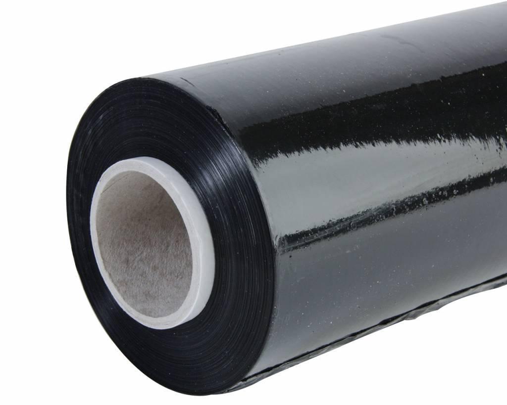 Rekfolie Handwrap B 500 mm x L 300 mtr, 19 my zwart