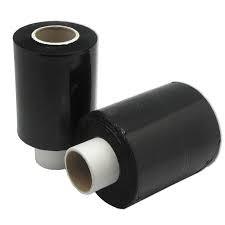 Bundelfolie B 100 mm x L 150 mtr x D. 0,023 mm  zwart, Kern 38/140mm, 24 rol/ds