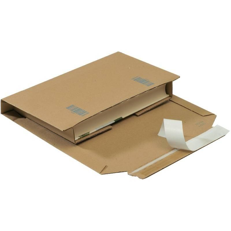 Boekverpakking A5 - 217 x 155 x 10 - 50 mm Wit, 25 st/pak