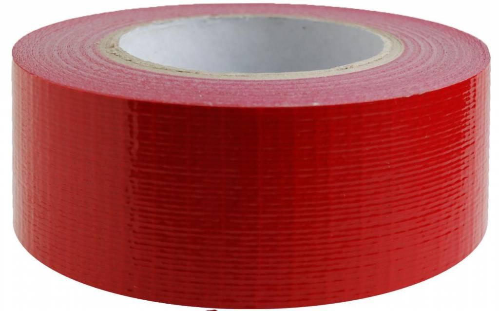 Duct tape 50 mm x 50 mtr Rood - Professioneel, 18 rol/ per doos