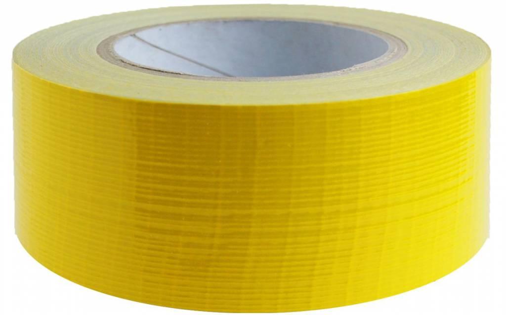 Duct tape 50 mm x 50 mtr Geel - Professioneel, 18 rol/ per doos