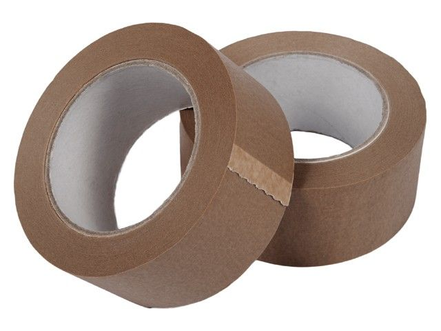 Papiertape 50 mm x 50 mtr Bruin - Hotmelt, 36 rol/ per doos
