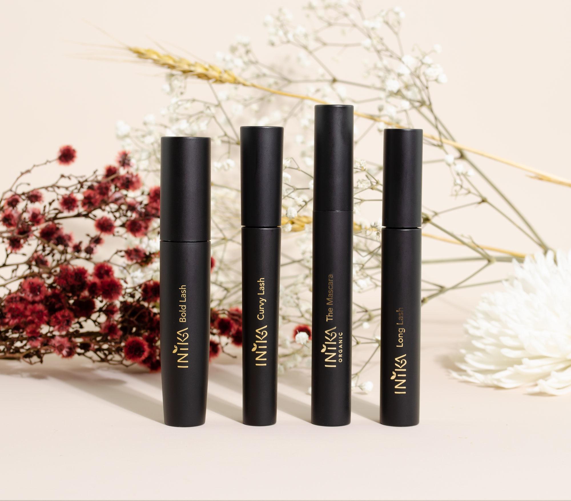 De verschillende mascara's van INIKA Organic